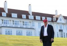 Republican Presidential Candidate Donald Trump Visits His Scottish Golf Course Getty Images
