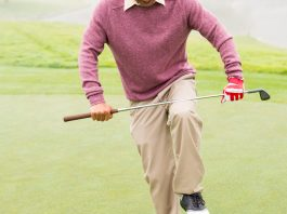 Angry golfer trying to brake his club Getty Images/iStockphoto