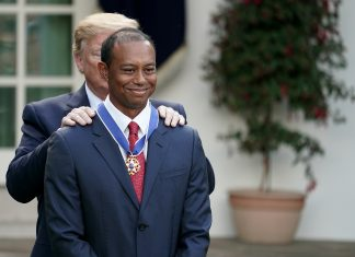 President Trump Awards Medal Of Freedom To Golfer Tiger Woods Getty Images