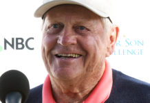 Legendary golfer Jack Nicklaus speaks to media during the SOPA Images/LightRocket via Gett