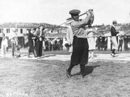 Gene Sarazen Watches Flight of Ball Corbis via Getty Images