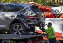 Tiger Woods Injured In Rollover Car Crash David McNew