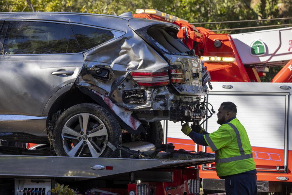 Tiger Woods Injured In Rollover Car Crash David McNew