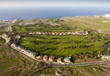 Golf Course near Costa Adeje, Tenerife, Canary Islands, Spain ullstein bild