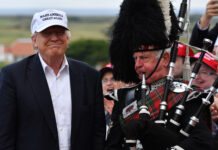 Donald Trump Opens His New Golf Course At Turnberry Jeff J Mitchell